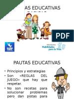 PAUTAS EDUCATIVAS BASICAS