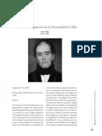 Discurso de Inauguración de La Universidad de Chile