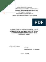 Elabracion de Politicas Para El Desarrollo de SoftLibre en La APN-Capacitacion Del Talento Humano
