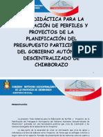 Guía Didáctica a Presentar proyectos y perfiles PP
