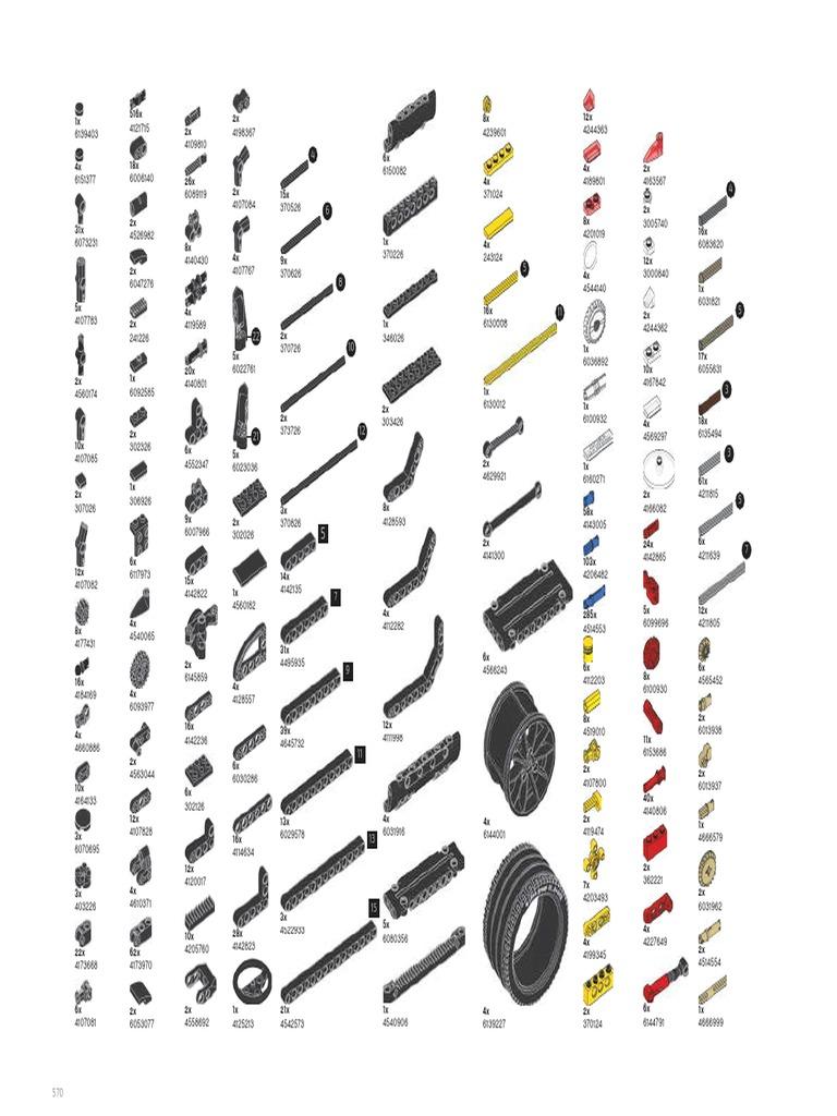 part list lego