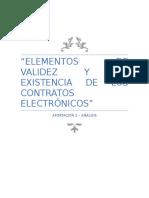 Elementos de validez y existencia de los contratos electrónicos