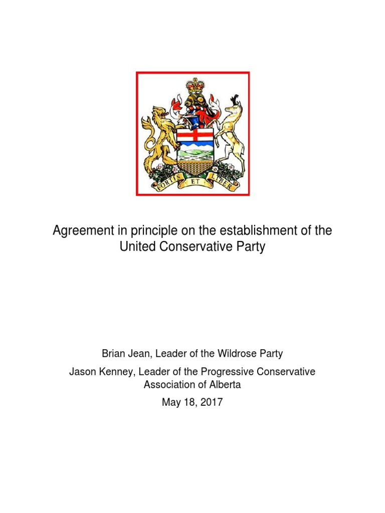 Agreement In Principle May 18 2017 Final Ratification Elections