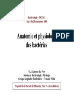 Bacterio 1 Anatomy Physio Bact. [Mode de Compatibilité]
