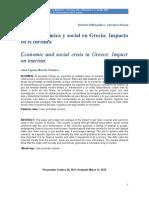 Economia Ambiental- Crisis Economica y Social en Grecia, Impacto en Turismo