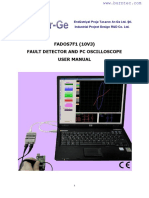 FADOS7F1 Fault Detector Oscilloscope User Manual