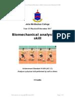 as 3 2 biomechanical analysis of a skill