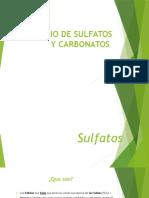 Estudio de Sulfatos y Carbonatos