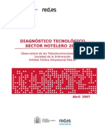 Diagnóstico tecnológico - Sector hotelero 2007