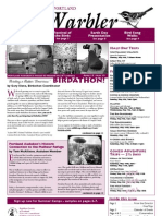 April 2008 Warbler Newsletter Portland Audubon Society
