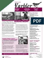 April 2008 Warbler Newsletter Portland Audubon Society