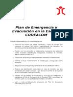 Plan de Evacuacion de La Escuela CODEACOM