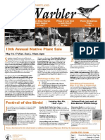May 2009 Warbler Newsletter Portland Audubon Society