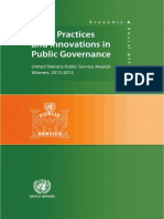 Good Practices and Innovations in Public Governance United Nations Public Service Awards Winners, 2012-2013