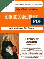 Teoria do Conhecimento I - Sto Tomás de Aquino