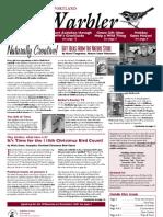 December 2009 Warbler Newsletter Portland Audubon Society