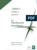Lectura 3 - La Planificación Estratégica - Modificado
