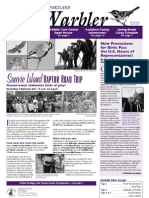 January-February 2010 Warbler Newsletter Portland Audubon Society
