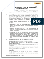 Novedades en El Proceso de Integración Del Seace Con El Siaf