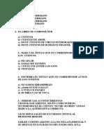 Pruebas y Cuestionario Book