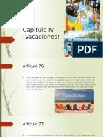 LEY FEDERAL DEL TRABAJO Vacaciones