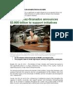 Artículo Minister Diaz-Granados announces $3.805 billion to support initiatives(2)