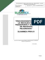 Suammex-prr-01 Proc de Recoleccion Transporte y Acopio de Residuos Peligrosos