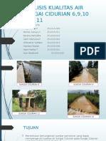 Analisis Kualitas Air Sungai Cidurian 6,9,10 Dan 11