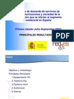 Estudio de Demanda de Servicios de Telecomunicaciones y Sociedad de la Información