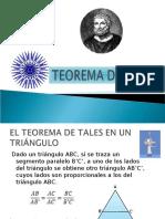 Teoremas Tales y Pitagoras
