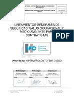 Lineamientos de Ssoma de Ipc Sac Tottus Cuzco