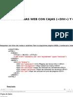 Diseño de Páginas WEB Con Cajas (DIV) y CSS