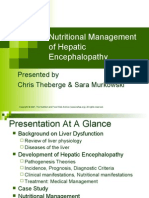 Nutritional Management of Hepatic Encephalopathy