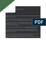 Surat Pegumpulan Data Protim