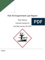 fish kill experiment lab report ap chem