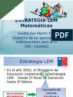 Estrategia LEM Matemáticas