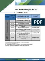 Cronograma Orientacao TCC 2017 01