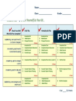 Scratch Rubric for Students