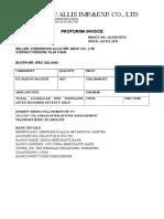 7.23 Proforma Invoice
