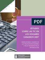 Estudio - Las TIC en los hogares canarios 2007