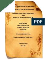 Anomalias de Crecimiento Celular (a.patologia)