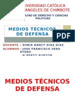 MEDIOS TECNICOS DE DEFENSA