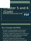 Chapter 5 and 6 Cont