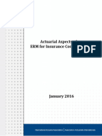 Actuarial Aspects of ERM for Insurance Companies