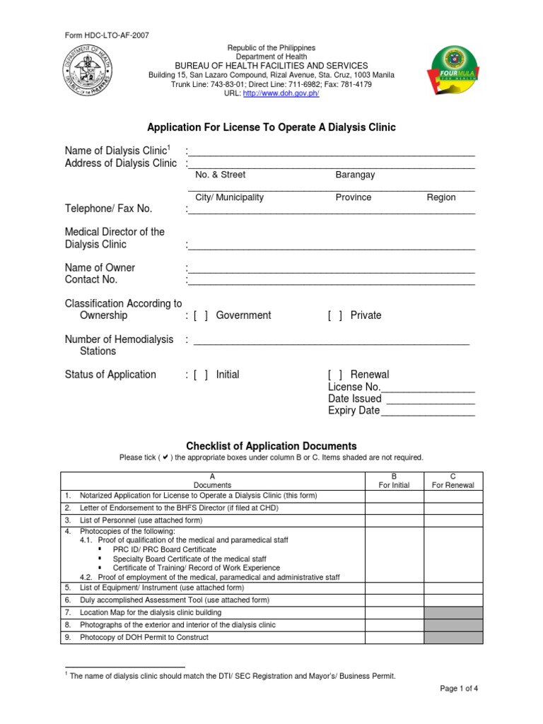 Application Dialysisclinic Pdf Notary Public Politics