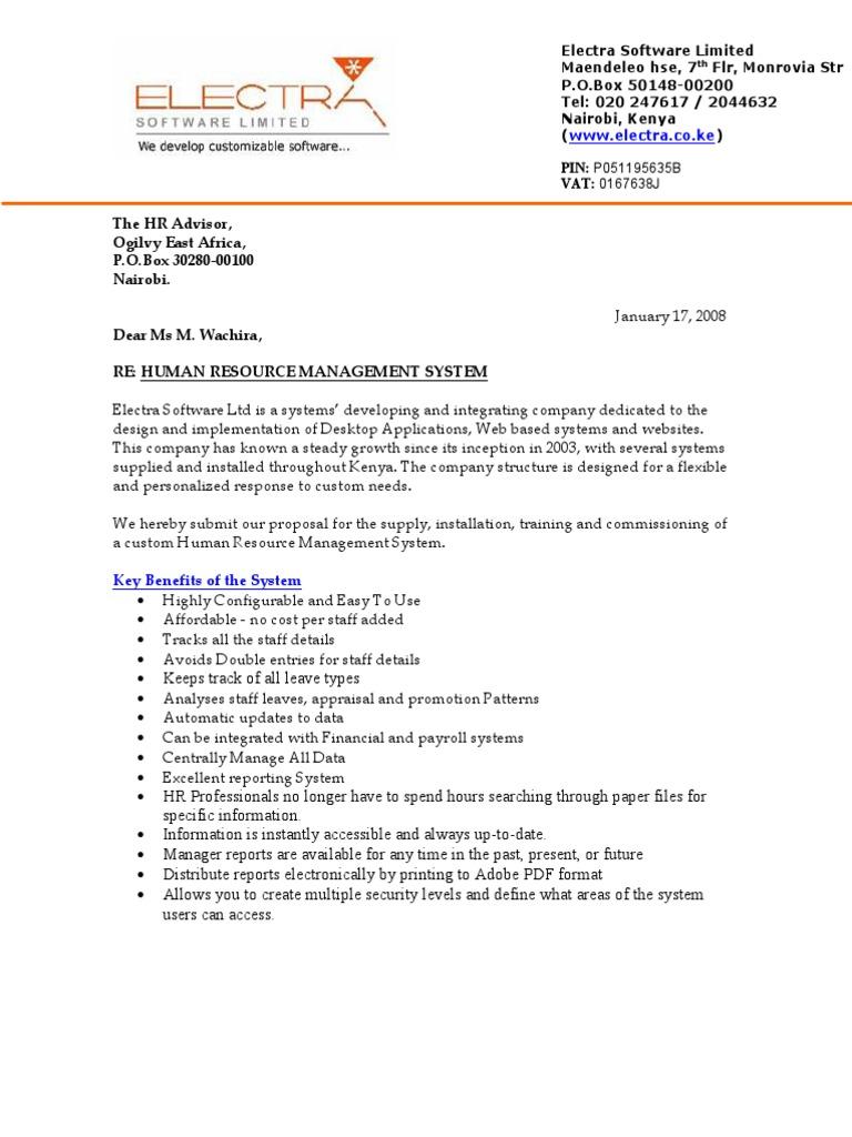 HRMS Proposal - Ogilvy | Computing | Technology