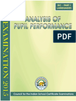 Micm-newsletter-Analysis of Pupil Performance ISC Examination 2015