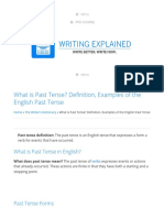What is Past Tense_ Definition, Examples of the English Past Tense - Writing Explained