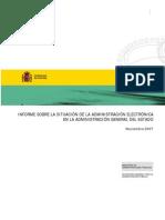 Informe sobre la situación de la administración electrónica en la administración general del estado