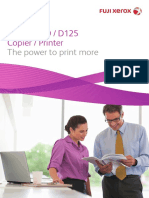 D95 D110 D125 Copier Printer Brochure